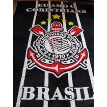 Manta (cobertor) Corinthians, Microfibra, Casal