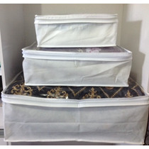 3 Pçs Capa Porta Edredon E Organizador De Cobertor, Toalhas