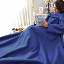 Cobertor Com Mangas Em Soft Adulto - Azul Royal