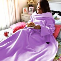Cobertor Com Manga Em Soft - Adulto - Lilás