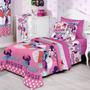 Jogo Lençol Solteiro 3 Pçs Disney Minnie Confetti - Santista
