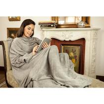 Cobertor De Tv Com Mangas Solteiro Cinza - Loani