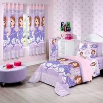 Cortina Infantil 02 Peças Disney Sofia Sweet - Santista