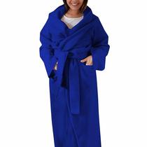 Cobertor Com Manga, Bolso E Cinta 4 Em 1 - Adulto - Azul