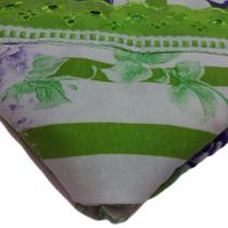 Lençol Malha Verde Branco Solteiro Enxoval Cama Mesa Banho