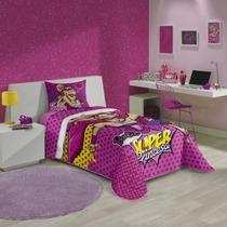 Kit Barbie Super Princesa Edredom + Jogo De Lençol 2 Peças