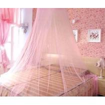 Mosquiteiro Rosa De Teto P/ Berço E Cama De Solteiro Decora
