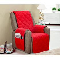 Protetor Para Proltrona Sofa 1 Pçs Toda C/ Vieis Vermelho