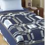 Cobertor Casal Delphi Azul Corttex Toque Macio E Antialérgic