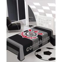 Cobertor Raschel Jolitex Time Corinthans Solteiro 1,50x2,20
