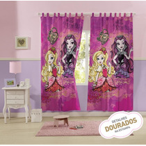 Cortina Infantil Duas Peças Ever After High - Lepper