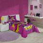 Cobre Leito Simples Infantil Barbie Super Princesa