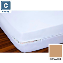 Capa De Colchão Casal Malha 100% Algodão Caramelo - Vivaldi
