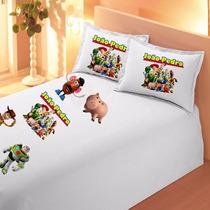 Fronha Toy Story Infantil Personalizada Com Nome Travesseiro