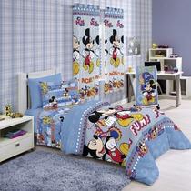 Jogo De Cama Mickey Club 3 Peças
