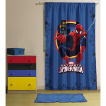 Cortina P/ Varão Spider Man 1,50 X 2,00m Lepper Homem Aranha