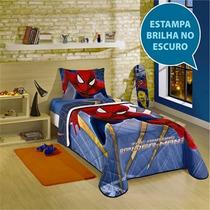 Colcha Solteiro The Amazing Spiderman 2 Brilha No Escuro