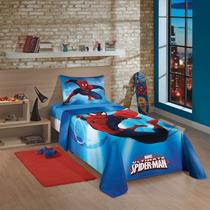 Jogo De Cama Homem Aranha 3pç Sobrelençol+lençol+fronha