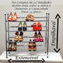 Sapateira Expansível Vertical Tubo Cromado Extensível Sapato