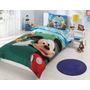 Jogo De Cama Disney Mickey Mouse Club Ranforce (lençol) Lice