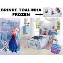 Jogo D Lençol + Toalha Banho Infantil Frozen Lepper Original