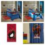 Kit 5 Pçs Homem Aranha Edredom+lençol+fronha+cortina+toalha