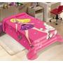 Cobertor Barbie Jolitex Solteiro 1,5m X 2,0m Não Alérgico
