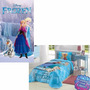 Kit Edredom Infantil Frozen + Toalha D Banho Frozen Original