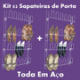 Kit 02 Sapateira Em Aço 24 Divisórias Porta Ou Parede Closet