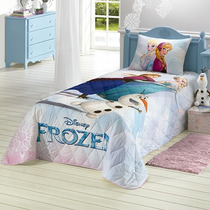 Colcha Infantil Frozen Estampa Com Glitter. Frete Grátis