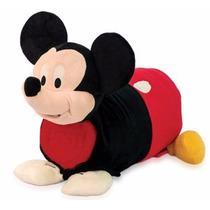 Manta Pelúcia Infantil Mickey Disney Mochila Almofada
