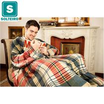 Cobertor De Tv Com Mangas Solteiro Xadrez - Loani