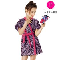 Roupão Infantil Monster High Felpudo Lepper - Tam P