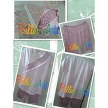 Short Doll Pijama Florido Rosa Tam P