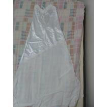 Semi-nova - Camisola Branca De Cetim E Musseline + Hobbie