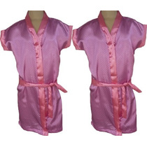 Robe Infantil Cetim Feminino Estampado No Atacado Pmg