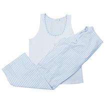 Pijama Feminino Jequitibá 3 Peças Calça, Regata E Robe