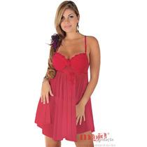 Camisolas Sensuais Charlote Vermelha Renda | Camisola Sexy