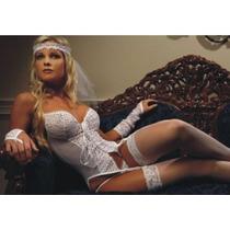 Sexy Fantasia Adulto Rendada Completa Erótica Lingerie Noiva