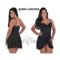 Camisola Feminina Sensual Lingerie Sexy Gratis Calcinha