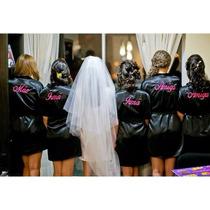 Robe Roupão Cetim Noiva Personalizado Dia Da Noiva