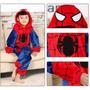 Pijama Macacão Infantil Heroi Homem Aranha Filme Capuz