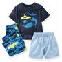 Pijama Carters 3 Pecas Menino Tamanho 5t Camisa Shorts Calca