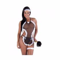 Fantasia Sexy Kit Body Empregada Doméstica Maiô