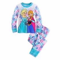 Pijama Calça Blusa Anna E Elsa Frozen Disney Store 9/10 Anos