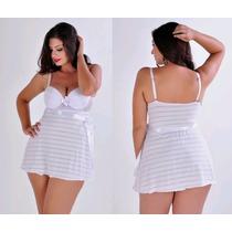 Camisola Sexy Plus Size 48 Até 52, Lindas Cores + Brinde!
