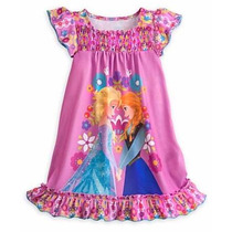 Camisola Infantil Elsa E Anna Do Frozen Original Disney