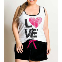 Kit C/ 5 Pijamas De Malha (short Doll) Plus Size - Atacado