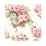 Pacote De Guardanapos De Papel Arianna Cream Rosa 33x33cm 20