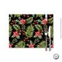 Jogo Americano Haus For Fun Hawaiian Floral Black 30x40